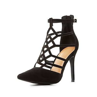 Laser Cut Pointed Toe Pumps