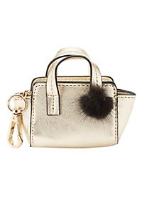 Mini Purse Pom-Pom Key Chain