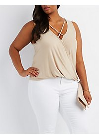 Plus Size Draped Strappy Top