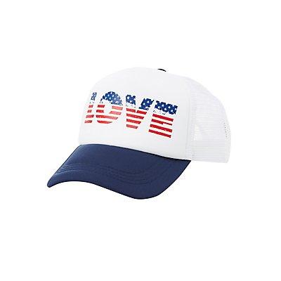 America Love Trucker Hat