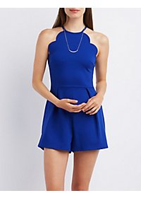 Scalloped Bib Neck Romper
