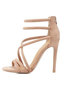 Qupid Tubular Dress Sandals