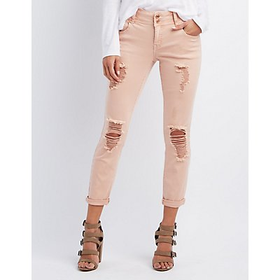 "Refuge ""Crop Boyfriend"" Destroyed Jeans"