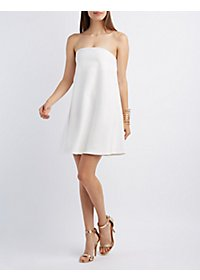 Strapless Shift Dress