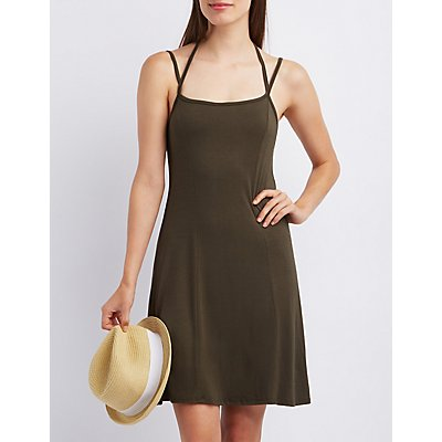 Strappy Open Back Shift Dress