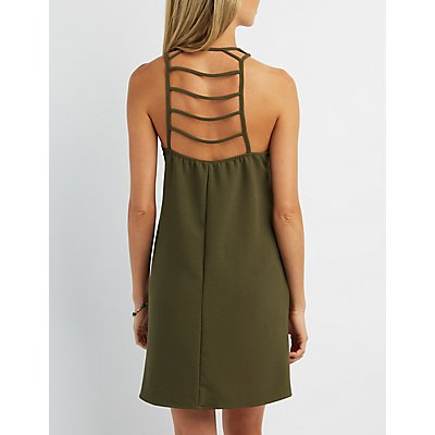 Strappy Ladder Back Shift Dress
