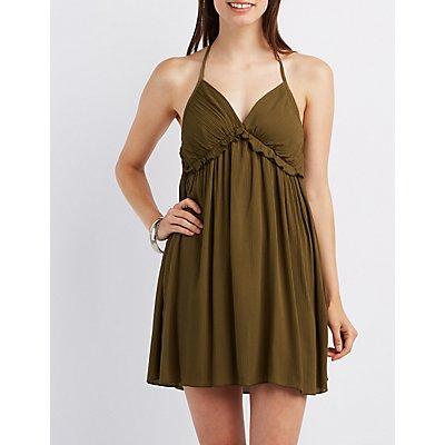 Ruffle T-Back Babydoll Dress