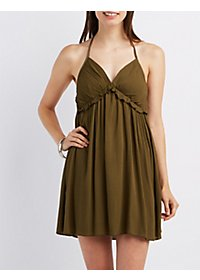 Ruffle T-Back Babydoll Dress