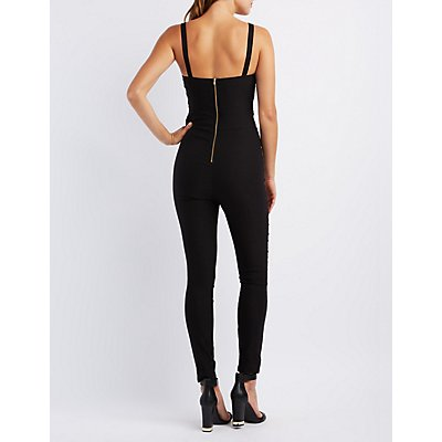 Caged Cut-Out Jumpsuit