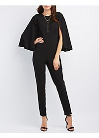 Caped Sleeveless Jumpsuit