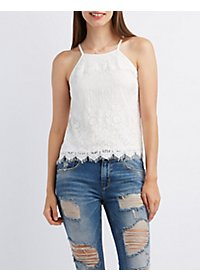 Scalloped Lace Tank