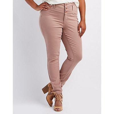 "Plus Size Refuge ""Hi-Waist Skinny"" Jeans"