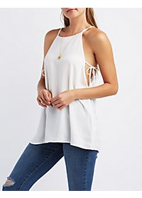 Bib Neck Trapeze Top