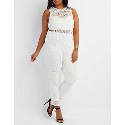Plus Size Lace Jumpsuit