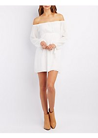 Off-the-Shoulder Babydoll Dress