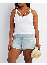 Plus Size Caged Cami Tank Top