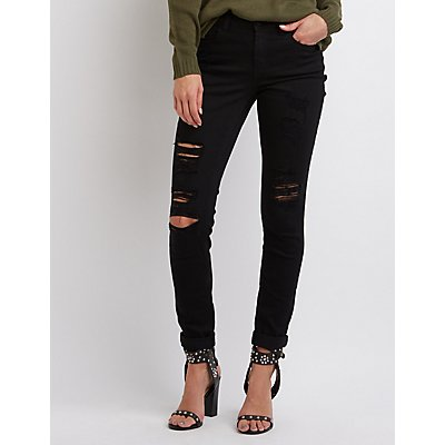 "Refuge ""Skinny Boyfriend"" Destroyed Jeans"