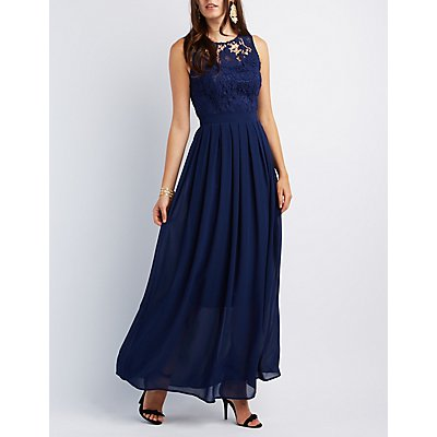 Lace & Chiffon Maxi Dress