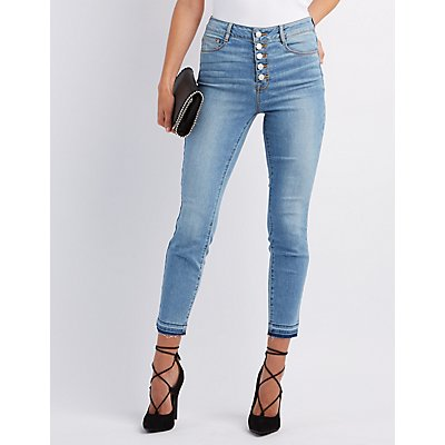 "Refuge ""Hi-Rise Skinny"" High-Waisted Jeans"