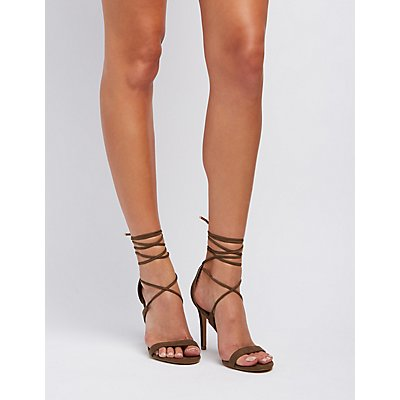 Lace-Up Dress Sandals