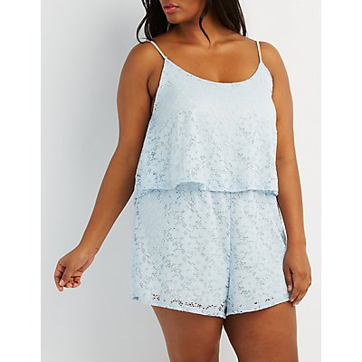 Plus Size Lace Romper