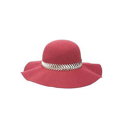 Metal Banded Floppy Hat