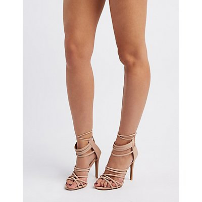 Strappy Tubular Dress Sandals
