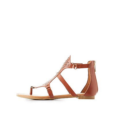 Bamboo Laser Cut Gladiator Sandals