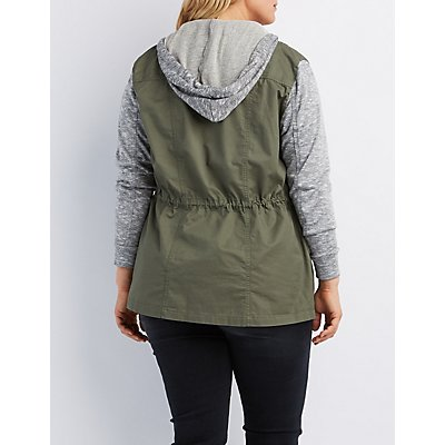 Plus Size Hooded Combo Anorak