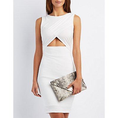 Wrapped Cut-Out Midi Dress