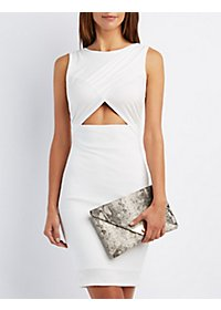 Wrapped Cut-Out Midi Dress