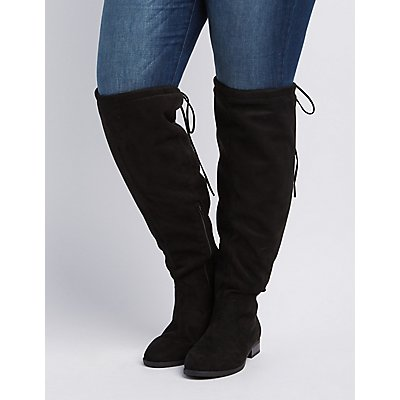 Wide Width Drawstring Over-The-Knee Boot | Charlotte Russe