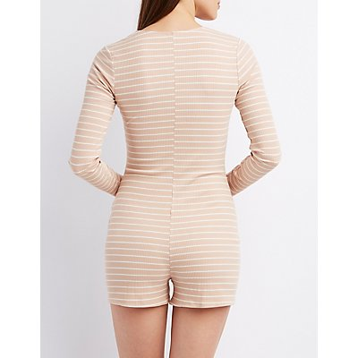 Twisted Long Sleeve Romper