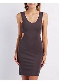 V-Neck Cut-Out Bodycon Dress