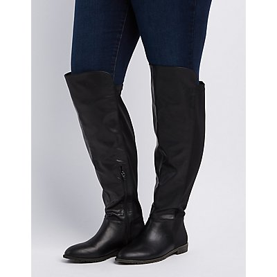 Wide Width Over-The-Knee Riding Boots