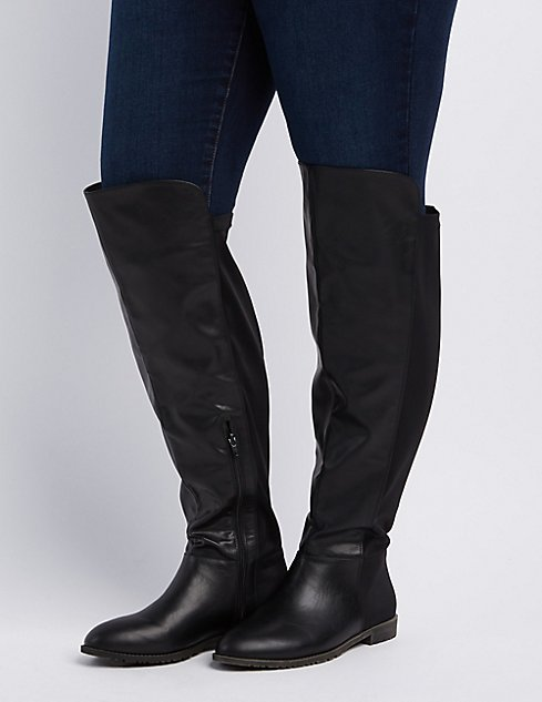 Wide Width Over-The-Knee Riding Boots | Charlotte Russe
