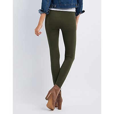 High-Waisted Stretch Cotton Leggings
