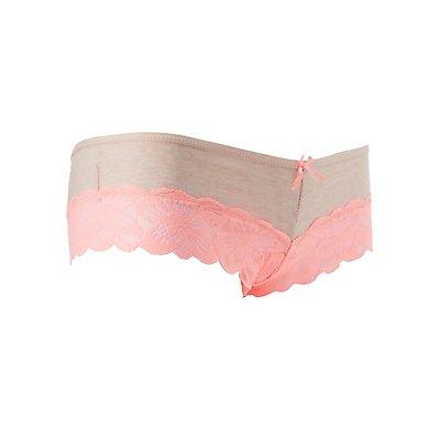 Lace-Trim Cheeky Panties