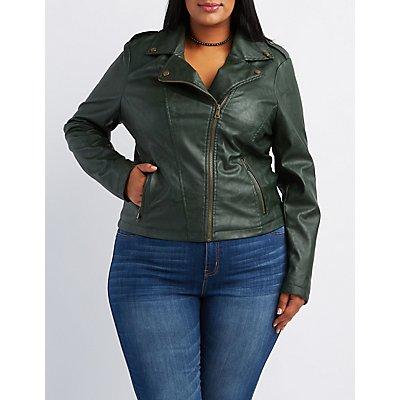 Plus Size Moto Jacket