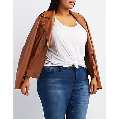 Plus Size Moto Jacket