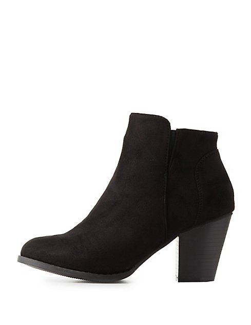 Chunky Heel Ankle Booties | Charlotte Russe