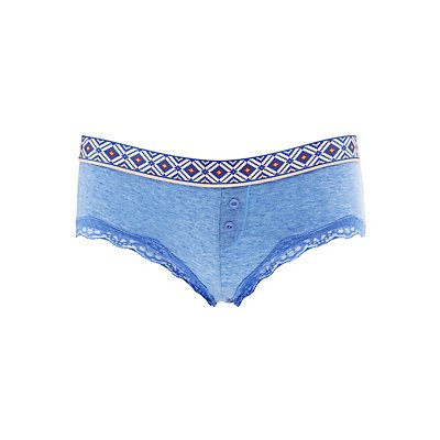 Printed Waistband Boyshort Panties