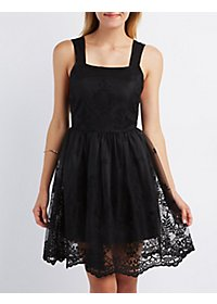 Sans Souci Mesh Tulle Skater Dress