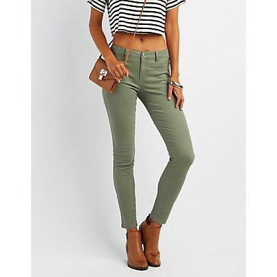 "Colored ""Skin Tight Legging"" Jeans"