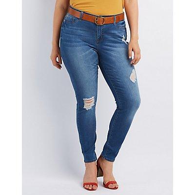 Plus Size Refuge Push Up LeggingJeans