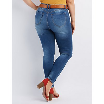 "Plus Size Refuge ""Push Up Legging"" Jeans"