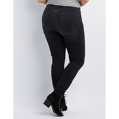 Plus Size Refuge Push Up Legging Jeans