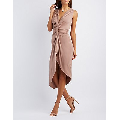 Knotted Wrap Maxi Dress