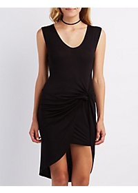 Asymmetrical Knot Front Dress