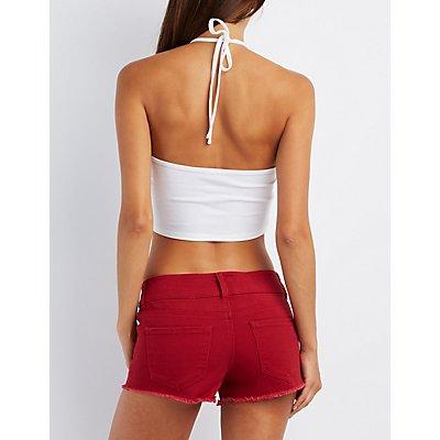 Tie-Back Halter Crop Top